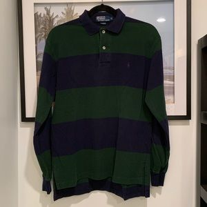 Vintage 90s Polo Ralph Lauren striped rugby polo